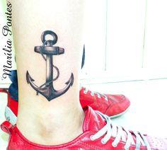 Anchor~tattoo - black & grey