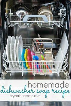 homemade dishwasher soap recipe