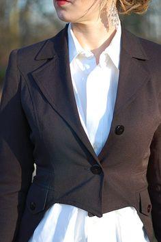 DIY tuxedo blazer with tails