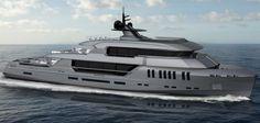 Poseidon is an Impressive 44-Meter Superyacht Concept by Rossinavi