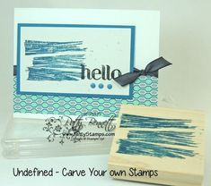 Undefined carved brushstroke stamp carved by Patty Bennett