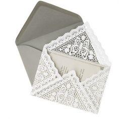 DIY lace envelopes