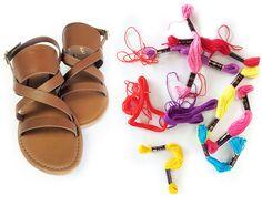 fashion friday- thread wrapped sandals - alisaburke