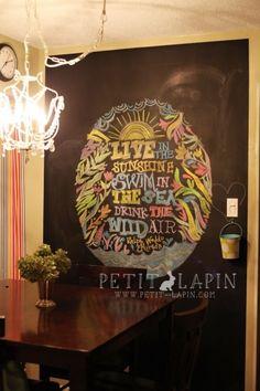 kitchen chalkboard wall