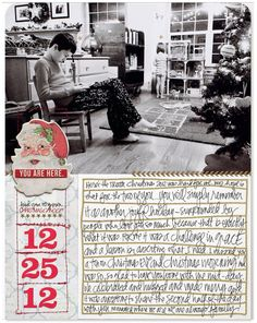 My Christmas layout from 2012 that documents the challenging reality of my holiday. Found in the Fall Issue of Scrapbook & Cards today magazine in my Stories With Heart article. #scrapbooking