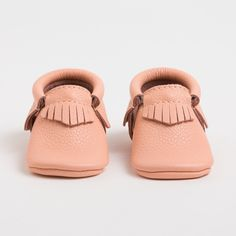 Our Newest Moccs - Coral! Leather moccasins for Kids from Freshly Picked (as seen on Shark Tank!)