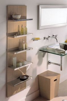 decor, open shelves, floating shelves, small bathrooms, bathroom remodeling