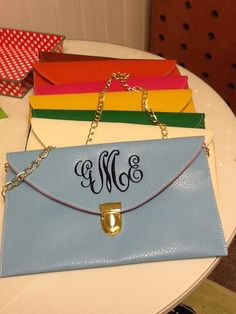 Clutches from the Little Monogram Shop in Alexandria! Sooo cute!