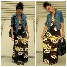 Maxi dress and jean jacket...already in the closet. The go to spring and summer outfit.