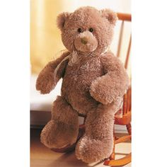 "Rigby Teddy Bear From GUND Plush ToysBrown, soft, cuddly huggable plush material.Measures 15""GUND products are kid safe. Gotta Getta GUND, GUND, GUND Kids, GUNDbaby, babyGUND,"