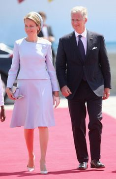 King Philippe of Belgium and Queen Mathilde of Belgium during a Ceremony to Commemorate D-Day 70 on Sword Beach, 06.06.2014 in Ouistreham, France.