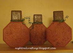 Too easy, so cute paver pumpkins