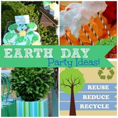 13 Excellent Earth Day Party Ideas!  #earthday #party craft, fun idea, parties, earth day, excel earth, parti idea, newspap parti, kid, earthday