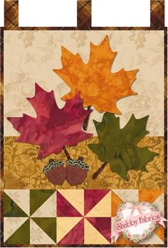 Little Blessings - Autumn Glitz Pattern: Full Set of 12 patterns available here - buy all 12 and save 20%! Let the Little Blessings bring you cheer all year long!  Jennifer Bosworth of Shabby Fabrics has created this wallhanging series using some of her favorite designs from previous quilts as well as adding new ones!  T…
