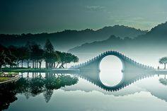 Moon Bridge in Taipei, Taiwan
