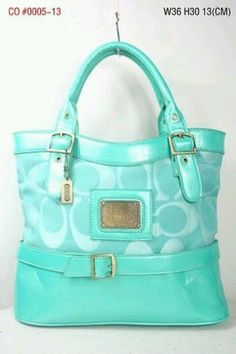 Turquoise coach purse