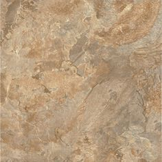 "Style Selections 12"" x 12"" Terracotta Clay Slate Finish Vinyl Tile @ Lowes    Item #: 208426 