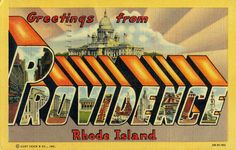 Greetings from Providence Rhode Island - vintage postcard