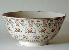 POLYCHROME DELFT PUNCH BOWL (ENGLISH)