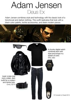 Inspired by Adam Jensen from Deus Ex by Console to Closet