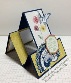 "Step-by-step instructions to make a stair step card that fits in a standard 5-3/4""x4-3/8"" envelope, Stampin' Up!"
