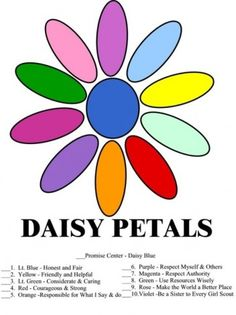 Daisy Petals an Girl Scout Law