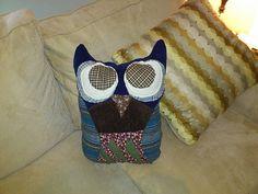 owl pillows, owl craft