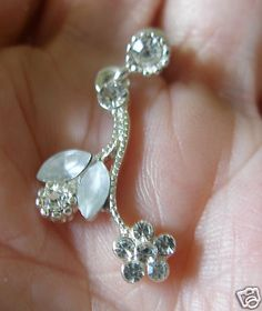 Raindrops & Flowers matching necklace and pierced earring set. $9.99 in nice gift box FREE shipping