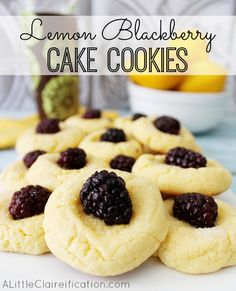 Lemon Blackberry Cookies (perfect for when you have berries that need to be used up fast!!)  at ALittleClaireification.com #recipe