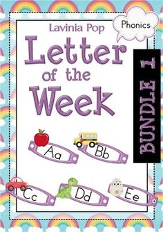 Phonics Letter of the Week BUNDLE 1.  Each Letter unit contains 81 pages with all that you need for a letter of the curriculum: includes 26 games, activities and worksheets.