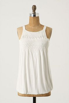 Smocked Blouson Tank #anthropologie