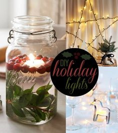 Cool Finds: DIY Holiday Lighting Inspiration #holidays #lighting #christmas #home #decor holiday lights, christma decor, holiday decor, light inspir, diy holiday
