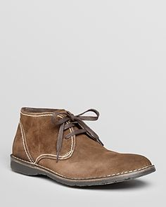 Hipster Suede Chukka Boots by John Varvatos