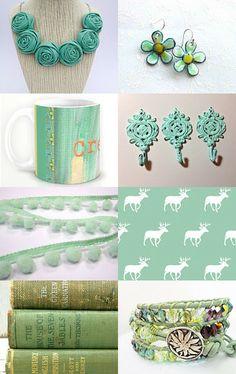 Handmade Hemlock | pantone spring 2014 |spring color trends | hemlock green  more ideas on https://www.etsy.com/treasury/MTAxMjgyfDI3MjMzNzcxMDc/handmade-hemlock-schulmanart