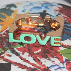 LOVE insignia gold plated and brightly by UnderCoverFashLover, $18.00