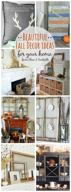 Beautiful and easy ideas to decorate your home for fall. // cleanandscentsible.com