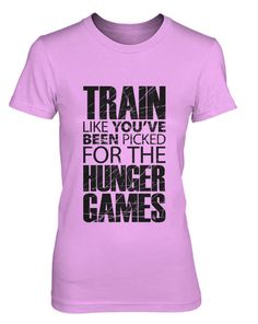 Hey, I found this really awesome Etsy listing at http://www.etsy.com/listing/162060111/train-for-the-hunger-games-t-shirt