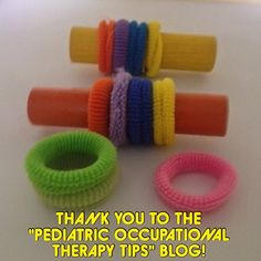 Thank you to Anne Zachry of the Pediatric Occupational Therapist  for this fantastic idea!  As a therapist, I frequently work with children on bilateral upper extremity skills. It's important for a child to learn to stabilize an object or container while performing an activity with the opposite hand. This is a simple, inexpensive activity that addresses bilateral skills and visual perception. When the child is required to copy a pattern, this addresses design copy and color ...