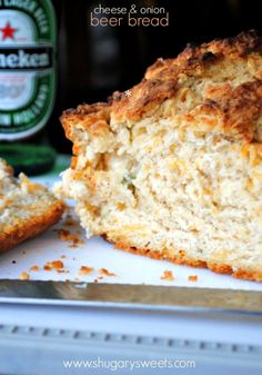 Cheese and Onion Beer Bread: homemade and easy to make!