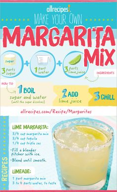 When you make your own margarita mix using freshly squeezed lime juice, you're ready to make as much refreshment as you need. From a single serving made in a bullet blender, to a whole pitcher to serve a crowd, you're ready to dial in just the right amount of refreshment.