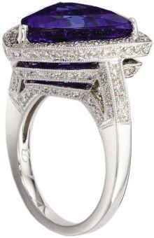 Tanzanite, Diamond, Gold Ring