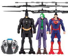 DC Comics Licensed World Tech Toys 3.5CH IR RC Helicopter Three Pack #batman #superman #darkknight #manofsteel #joker #batmanvsuperman #rchelicopter #gyro #remotecontrol #radiocontrol #rctoys #dccomics