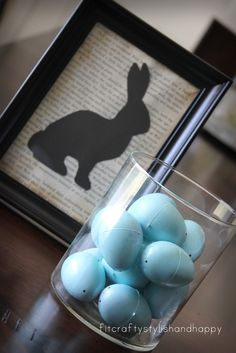 silhouette art, easter crafts, easter decor, bunni silhouett, framed art, bunny crafts, house art, easter bunny, art tutorials