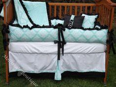 Sweet and sassy crib bedding, babi lve, babi idea, tiffany blue, babi number, tiffani blue, 27499, bedding sets, custom tiffani