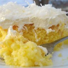 lemon cake, pudding cake, pineappl, coconut, cake mixes, layer cakes, yellow cakes, cake recipes, dessert