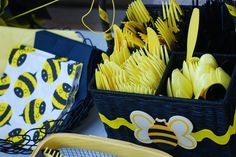bumble bee party ideas - cutlery ideas