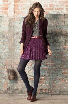printed t. floral skirt. blazer.