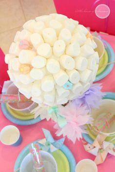 Marshmallow Topiary! From Kara's Party Ideas. More ideas, too! KarasPartyIdeas.com #marshmallow #topiary #ideas