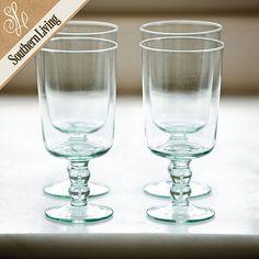 Southern Living Set of 4 Tea Glasses   Ballard Designs