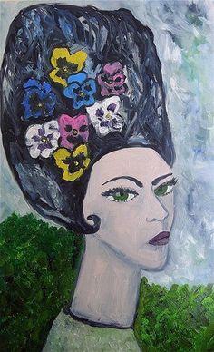 Pansy  Original oil painting by Vivienne Strauss by vivstrauss,